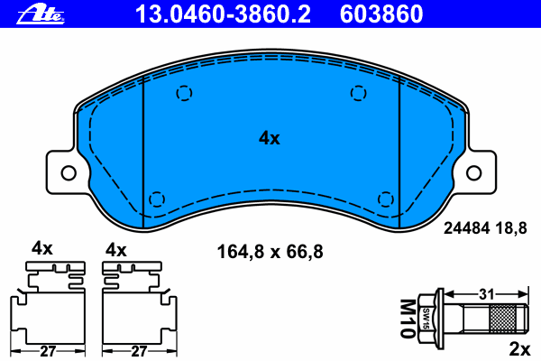 Колодки тормозные дисковые передн, VW: AMAROK 2.0 BiTDI/2.0 BiTDI 4motion/2.0 TDI/2.0 TDI 4motion/2.0 TSI 10-