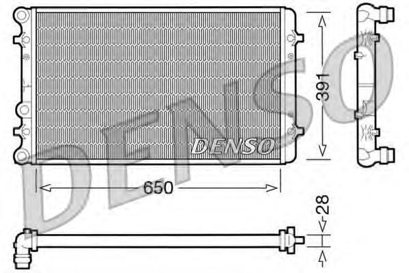 Радиатор системы охлаждения AUDI: A3 (8L1) 1.6/1.8/1.8 T/1.8 T quattro/1.9 TDI 96 - 03 , TT (8N3) 1.8 T/1.8 T quattro 98 - 06 , TT Roadster (8N9) 1.8