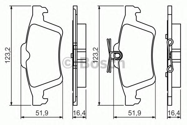 Колодки тормозные FORD FOCUS II/III/MAZDA 3/OPEL VECTRA C/VOLVO S40 задние