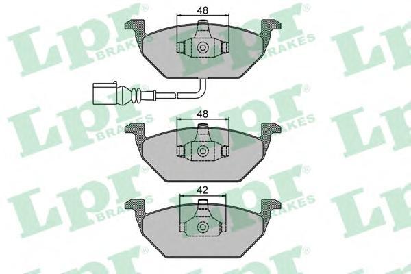 Комплект тормозных колодок 05P692