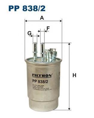 Фильтр топливный PP838/2