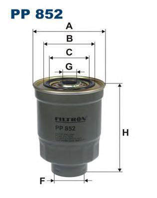 Фильтр топливный PP852