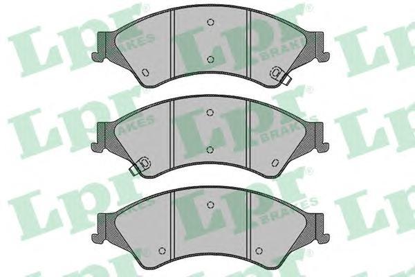 Колодки тормозные LPR 05P1768 FORD RANGER 11-