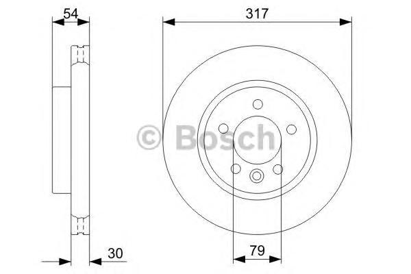 Диск тормозной LAND ROVER DISCOVERY 2.7D 04-/RANGE ROVER SPORT 2.7D 05- передний