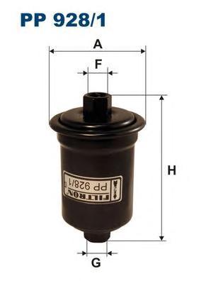 Фильтр топливный FILTRON PP9281 TOYOTA LANDCRUISER 90 3,4i V6 04/96 mot. 5VZ-FE