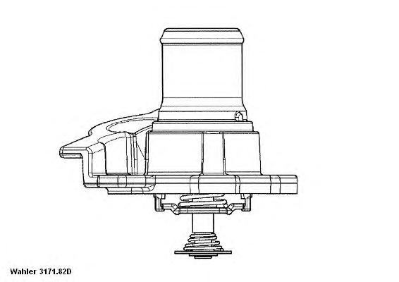 Термостат (в корпусе) FIAT: DUCATO 02- \ IVECO: Daily II 99-