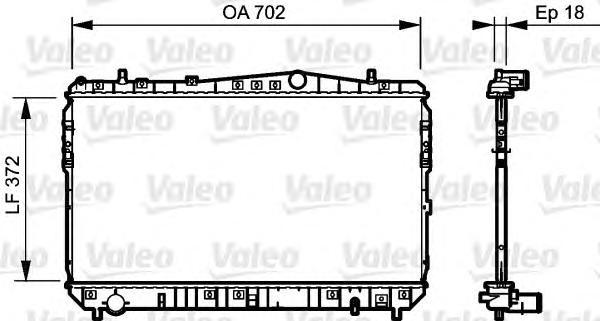 Радиатор VALEO 735159 Chevrolet/Daewoo Lacetti/Nubira 1.4-1.8 05-