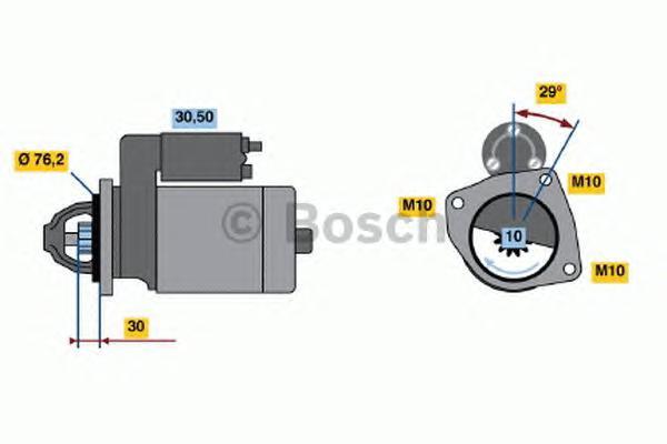 Стартер BOSCH 0986017060 FORD Focus I 1.6/Focus II 1.6 /Fusion 12V 1,1 Kw