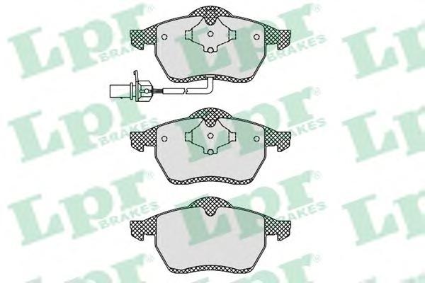 Колодки тормозные LPR 05P1238 VW Sharan 00-02 1датчик =GDB1440