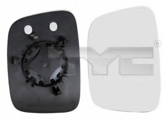 Стекло зеркала прав выпукл VW: CADDY - (2004-2010) , TRANSPORTER T5 - (2003-09)