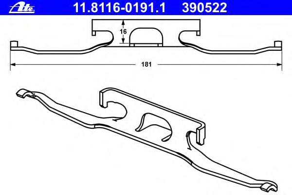 Комплект монтажный тормозных колодок MERCEDES-BENZ: SPRINTER 2-t 208 CDI/208 D/210 D/211 CDI/213 CDI/214/214 NGT/216 CDI 95-06, SPRINTER 2-t 208 CDI/208 D/210 D/211 CDI/212 D/213 CDI/214/