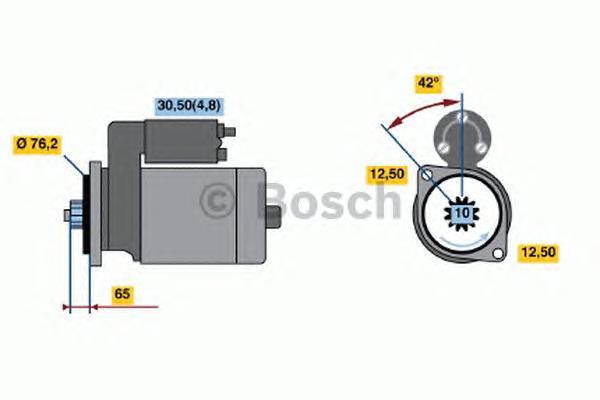 Стартер VW T5 -09 2.5 TDI 2.2кВт