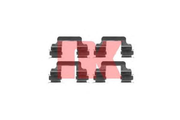Монтажный комплект задних дисковых колодок / AUDI A-6,8,Q5•VW Transporter T-5 03~