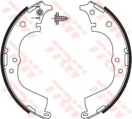 Колодки тормозные барабанные задн TOYOTA: HIACE III/IV/V 2.0-2.7I/2.4TD/2.5D-4D 89