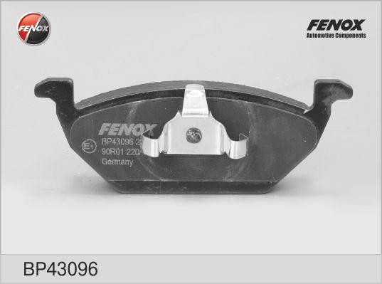 Колодки тормозные FENOX BP43096 VW без датч.