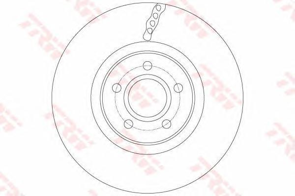Диск тормозной передний FORD FOCUS III (278мм) DF6138