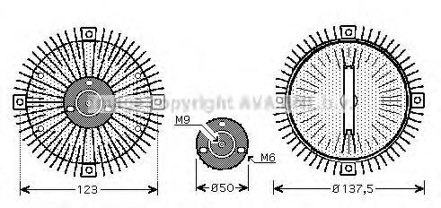 Муфта вентилятора системы охлаждения passat 03 1,6
