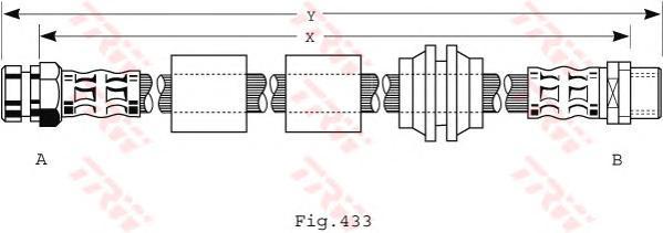 Шланг тормозной VW: SHARAN 1.9D/2.0/2.8 00-
