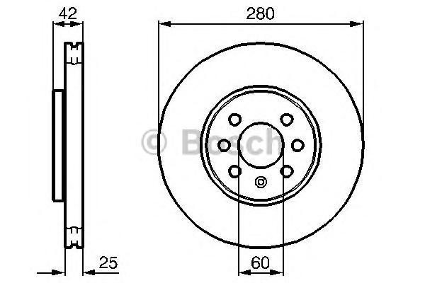 Диск тормозной OPEL ASTRA 04-10/MERIVA 03-10 передний