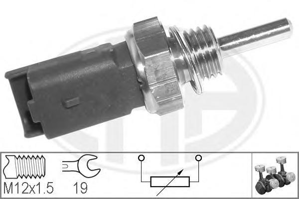 Датчик температуры охлаждающей жидкости ALFA ROMEO: 147 (937) 1.6 16V T.SPARK ECO (937AXA1A)/1.9 JTD/1.9 JTD (937AXD1A)/1.9 JTD 16V/1.9 JTDM 16V/1.9 JTDM 8V 01-, 159 1.9 JTDM 16V/1.9 JT