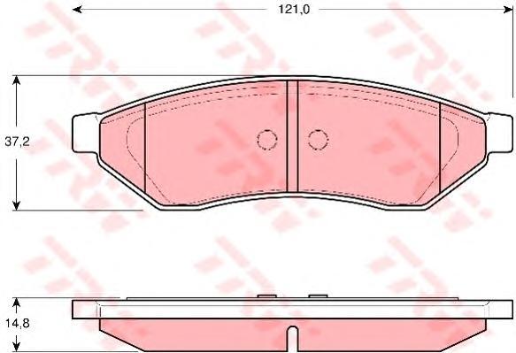 Колодки тормозные TRW GDB3346 DAEWOO EVANDA02- зад