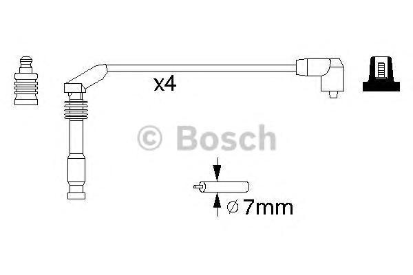 Провода в/в BOSCH 0986357126 OPEL VECTRA/OMEGA/ASTRA F (1612597) 4провода