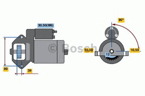 Стартер 12V, 2KW Ford Transit 2,2 TDCi 2006 => 0001109324
