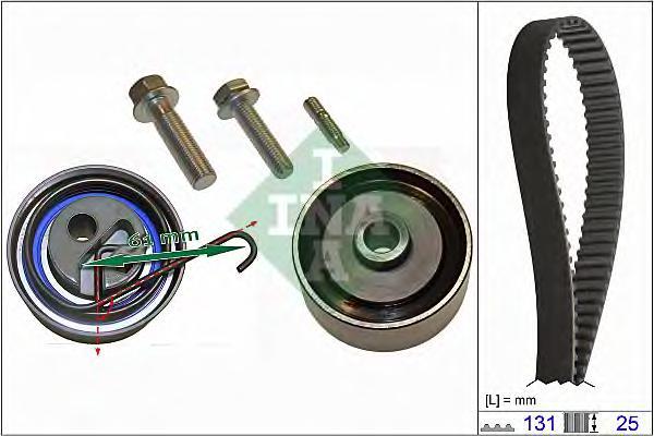 Комплект ремня ГРМ Opel Astra/Corsa/Meriva 1.7Di/DTi/CDTi 00 mot.328705