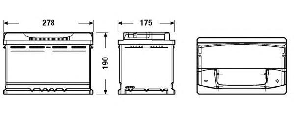 Аккумуляторная батарея 77Ah DETA SENATOR3 12 V 77 AH 760 A ETN 0(R+) B13 278x175x190mm 18.6kg