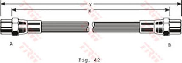 Шланг тормозной задний AUDI 100/A6 (C4) PHA106