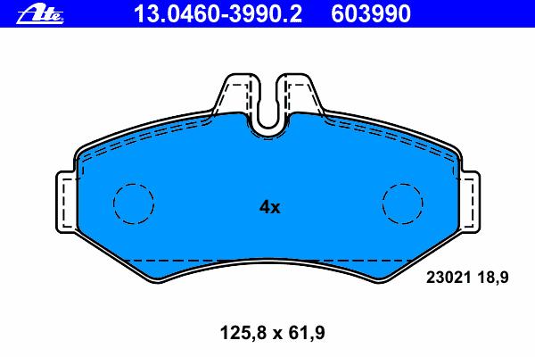Колодки тормозные дисковые, комплект MB