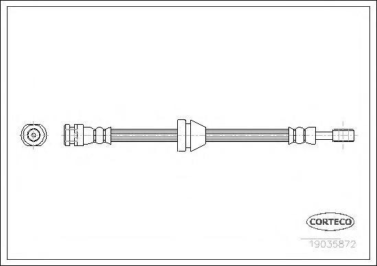 Шланг тормозной CHEVROLET: AVEO Наклонная задняя часть 1.2/1.4 08-, AVEO седан 1.2/1.4 05-, KALOS 1.2/1.4/1.4 16V 05-, KALOS седан 1.4 16V 05- \ DAEWOO: KALOS 1.2/1.
