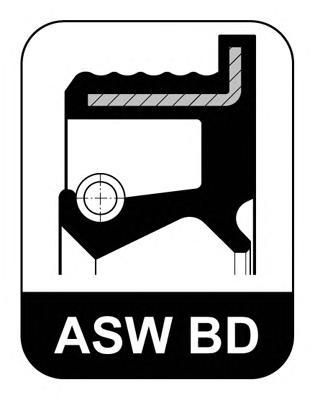 Сальник 40x52/58x7.6 ASW F BD NBR Audi. VW 78>