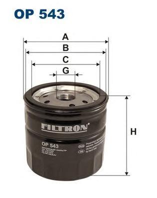 Фильтр масляный OP543