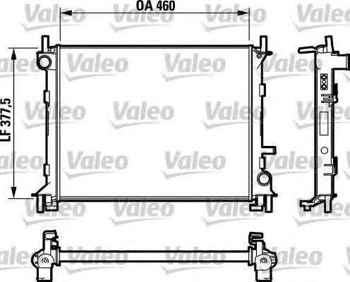 Радиатор VALEO 732731 Ford Focus 1.4/1.6 16V 98-