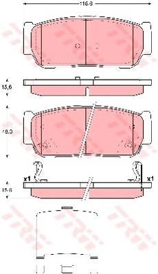 Колодки тормозные дисковые задн SSANGYONG: KYRON 05-