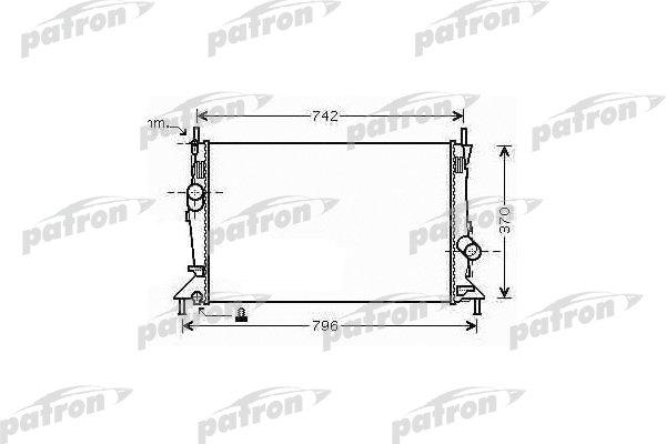 Радиатор системы охлаждения FORD: C-MAX 07-, FOCUS C-MAX, FOCUS II 1.6/1.6TDCi/1.6Ti/1.8/1.8 Flexifuel/1.8TDCi/2.0/2.0TDCi 03-07, MAZDA: 3 1.4/1.6/1.6DI/2.0/2.0MZR-CD 03-