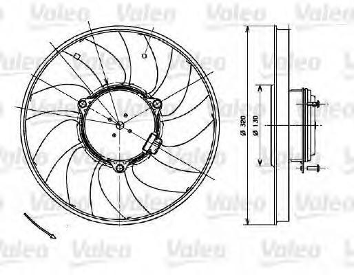 Вентилятор охлаждения радиатора MERCEDES: SPRINTER II (2006- ) 2.2, 2.2D, 3.0D, 3.5I/VOLKSWAGEN: CRAF