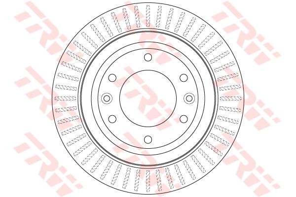 Диск тормозной задний HYUNDAI H-1 (TQ) 2,5CRDI DF6350