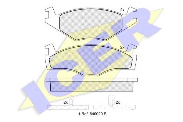 Колодки тормозные ICER 180460 AUDI VW толщ 19,7мм=GDB454