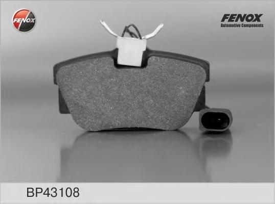 Колодки тормозные FENOX BP43108 VW T4 2.5/2.4D 99-03 задн с дат