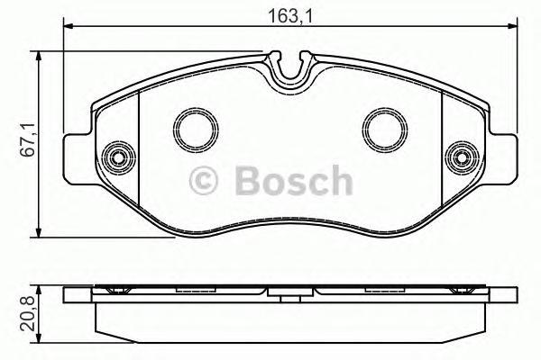 Колодки тормозные BOSCH 0986495098 VW Crafter 06- пер