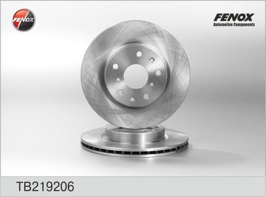 Диск тормозной FENOX TB219206 SX4 06- пер
