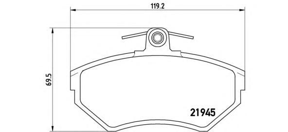 Колодки тормозные дисковые передн AUDI: A4 (8D2, B5) 94-00 , A4 Avant (8D5, B5) 94-01 \ VW: PASSAT (3B2) 96-00 , PASSAT Variant (3B5) 97-00