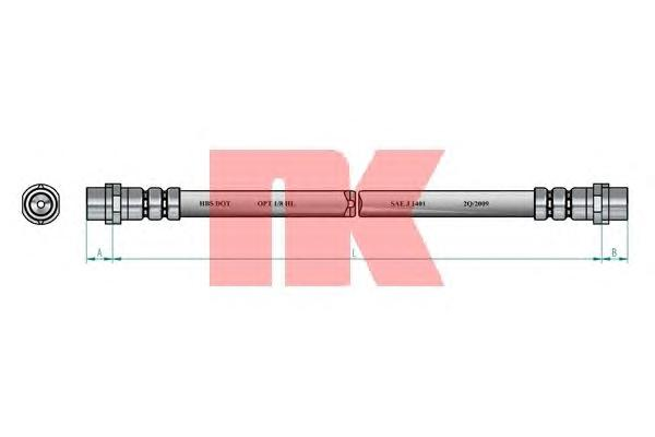 Шланг тормозной NK 854796 AUDI A8 пер 4D0611707F