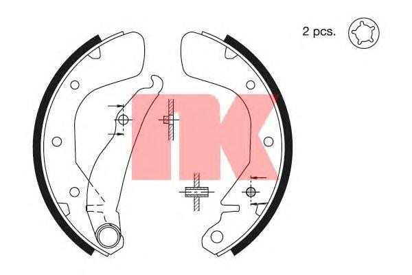Колодки тормозные барабанные / DAEWO,OPEL Astra-F/G,Vectra-A,Corsa-C (200x46) 91~