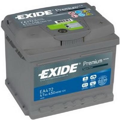 Аккумулятор EXIDE PREMIUM 12V 47AH 450A ETN 0(R+) B13 207x175x175mm 11.65kg