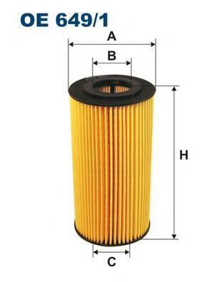 Фильтр масляный FILTRON OE6491 картридж BMW E36/ E39/ E34/ E38 2, 5TD/ TDS mot.M51 крышка пластик