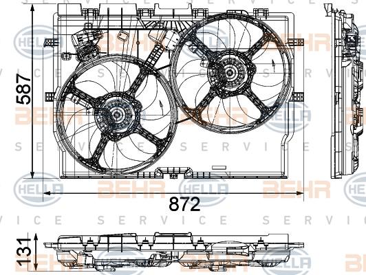 Вентилятор, охлаждение двигателяfiat ducato 06-