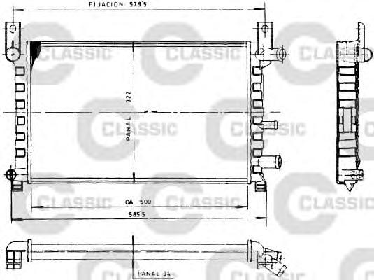 Радиатор системы охлаждения FORD: FIESTA III (GFJ) 1.0/1.1/1.3/1.3 KAT 89 - 97 , FIESTA фургон (F3L, F5L) 1.3 91 - 96